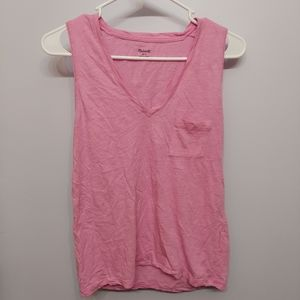 Madewell Pink V-Neck Tank Top